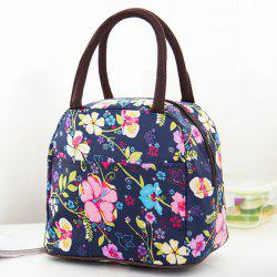 Nylon Flower Printed Lunch Bag