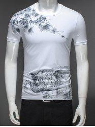 Elephant Print Short Sleeve Tee