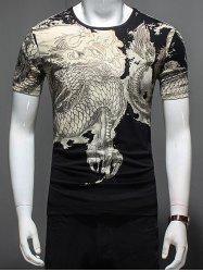 Short Sleeve Dragon Print Tee