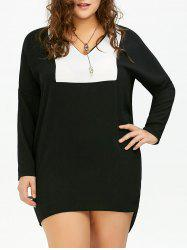 Plus Size Chiffon Dolman Sleeve Baggy Dress