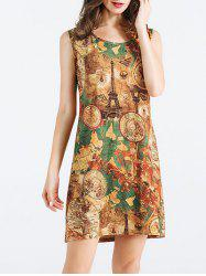 Eiffel Tower Printed Dress