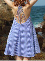 Strappy Striped Backless Casual Cute Dress