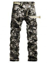Camouflage Printed Minitary Cargo Pants