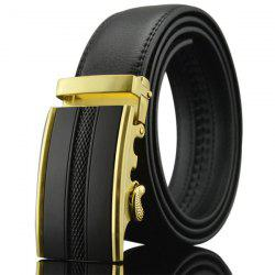 Rectangle Metal Buckle Artificial Leather Belt