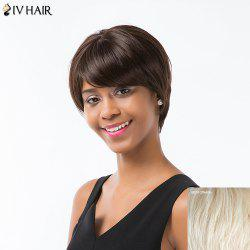 Siv Hair Short Oblique Bang Silky Straight Pixie Human Hair Wig