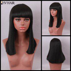 Siv Hair Long Straight Full Bang Capless Human Hair Wig