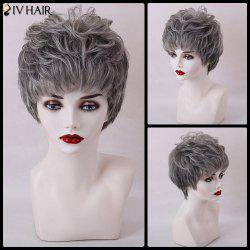 Siv Hair Short Layered Fluffy Full Bang Capless Human Hair Wig