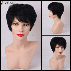 Siv Hair Straight Side Bang Short Layered Cut Human Hair Wig