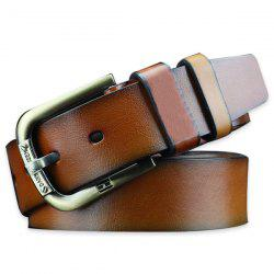 Vintage Faux Leather Roller Buckle Belt - BROWN