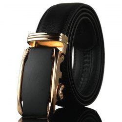 Geometric Automatic Buckle Faux Leather Belt