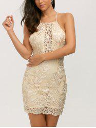 Backless Lurex Bodycon Short Night Out Dress - GOLDEN