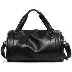Cross Body Faux Sac en cuir Weekend - Noir