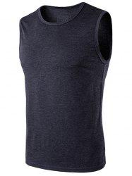 Crew Neck Sleeveless T-Shirt -