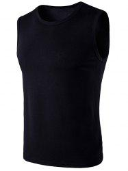 Crew Neck Sleeveless T-Shirt