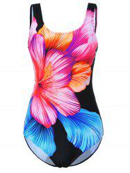 Hawaiian Plus Size Floral Swimwear - Noir