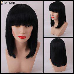 Siv Hair Neat Bang Medium Bob Hair Straight Human Hair Wig