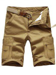 Straight Legs Multi Pockets Design Cargo Shorts
