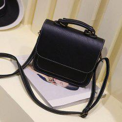 Flap PU Leather Crossbody Bag