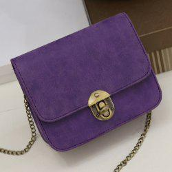 Flap Cross Body Chains Bag - PURPLE