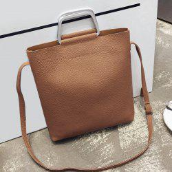 Metal Handle Tote Bag and Pouch Bag
