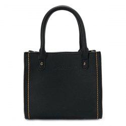 Stitching PU Leather Handbag -