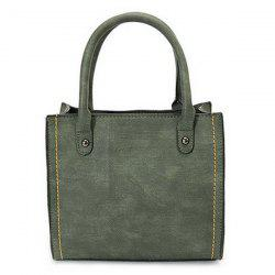 Stitching PU Leather Handbag