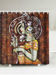 Queen Oil Painting Water Resistant Shower Curtain