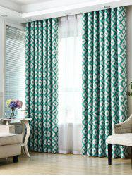 Geometry Pattern Shading Window Blackout Curtain