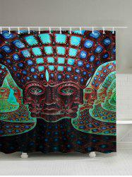 Buddha Pattern Bathroom Shower Curtain