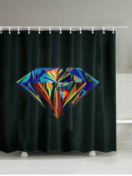 Diamond Print Bathroom Shower Curtain