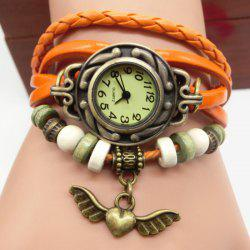 Heart Wings Number Vintage Bracelet Watch