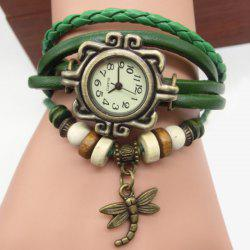 Dragonfly Braided Number Vintage Bracelet Watch