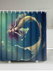 Underwater Mermaid Waterproof Shower Curtain