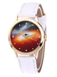 Glitter Faux Leather Starry Sky Watch