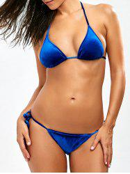 Velvet Halter High Cut Bikini