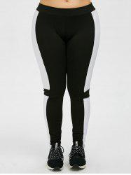 Plus Size Colorblock Workout Leggings
