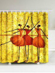 Dancing Girls Waterproof Polyester Afro Shower Curtain