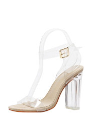 Ankle Strap Transparent Plastic Sandals