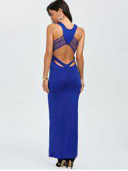 Back Cut Out Maxi Tank Party Dress