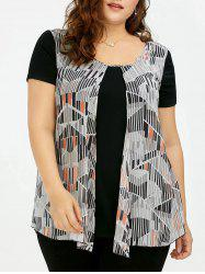Front Slit Plus Size Graphic T-shirt