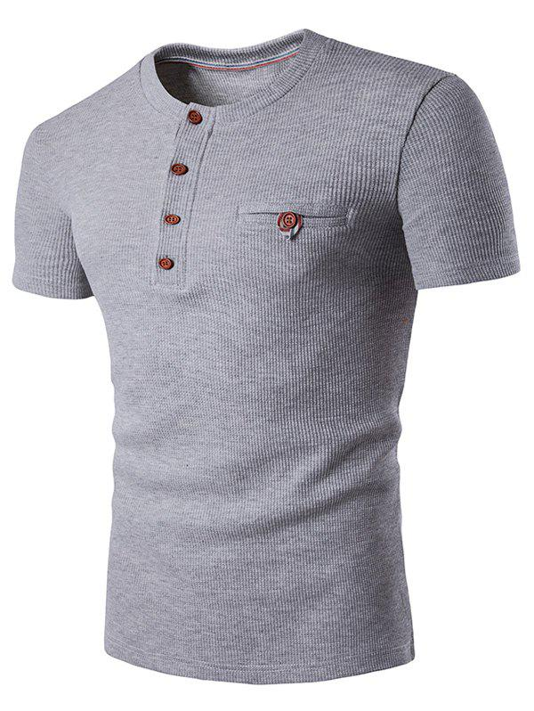 Shop Fake Pocket Henley T-Shirt