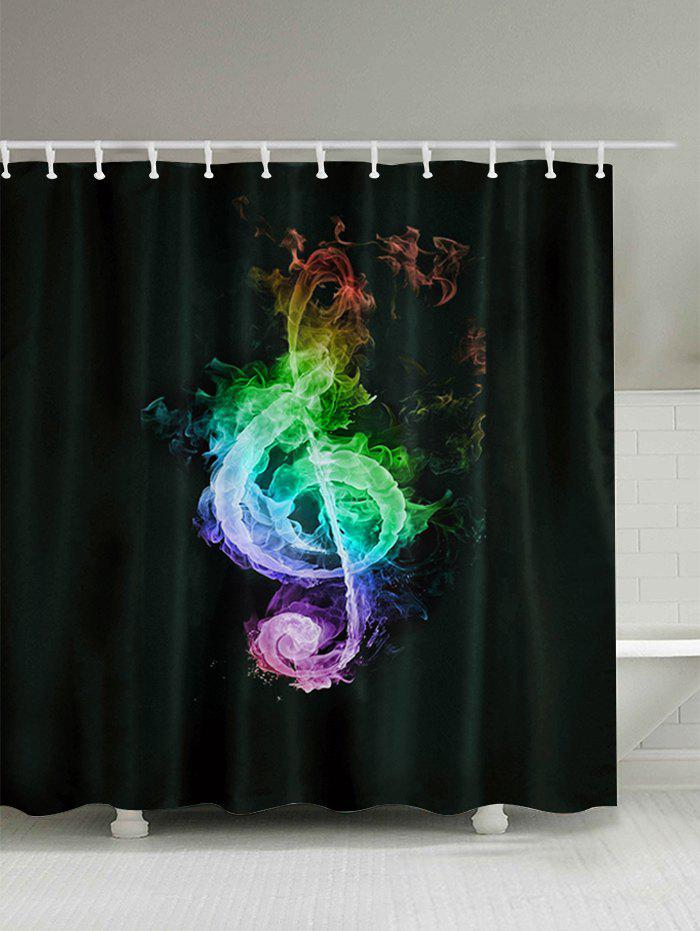Musical Note Bathroom Shower Curtain