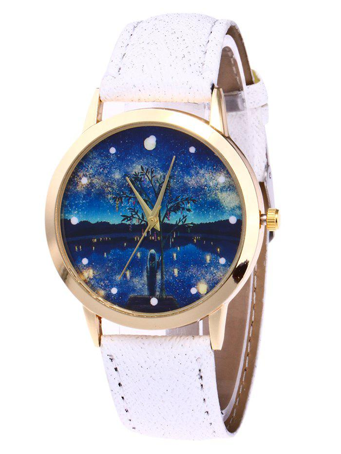 Store Glitter Strap Tree Starry Night Watch