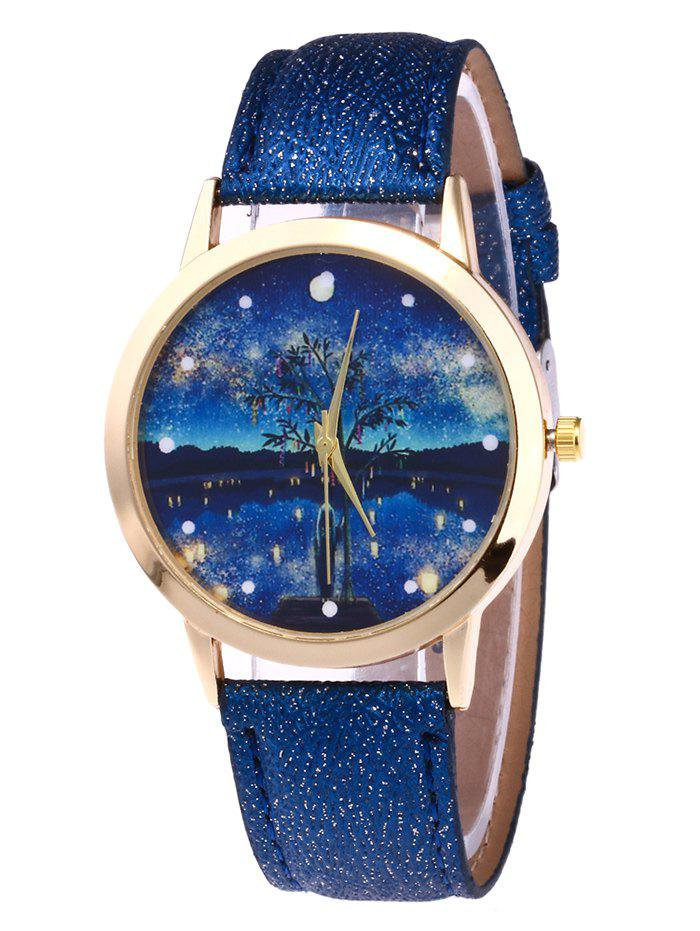 Cheap Glitter Strap Tree Starry Night Watch