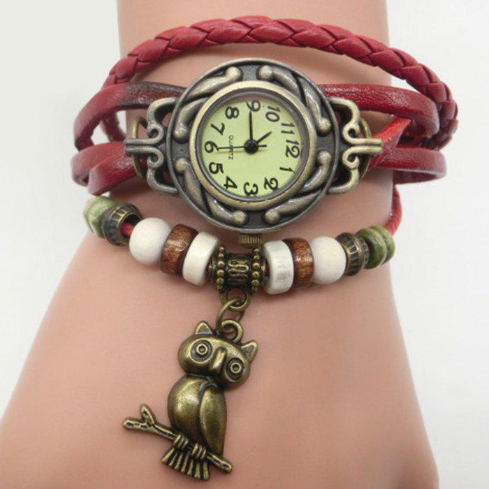 Fancy Owl Pendant Number Vintage Bracelet Watch