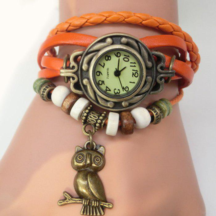 Fashion Owl Pendant Number Vintage Bracelet Watch