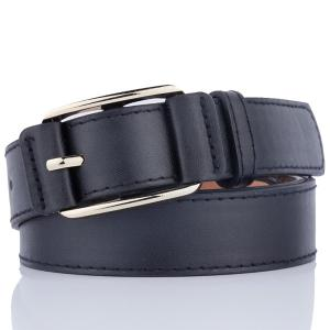 Plain Pin Buckle Artificial Leather Waist Belt
