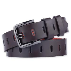 Filmstrip Style Wide Belt with Pin Buckle