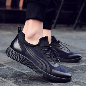 Faux Leather String Casual Shoes