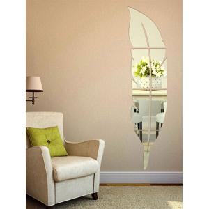 Feather Shape Home Decor Acrylic Mirror Wall Sticker